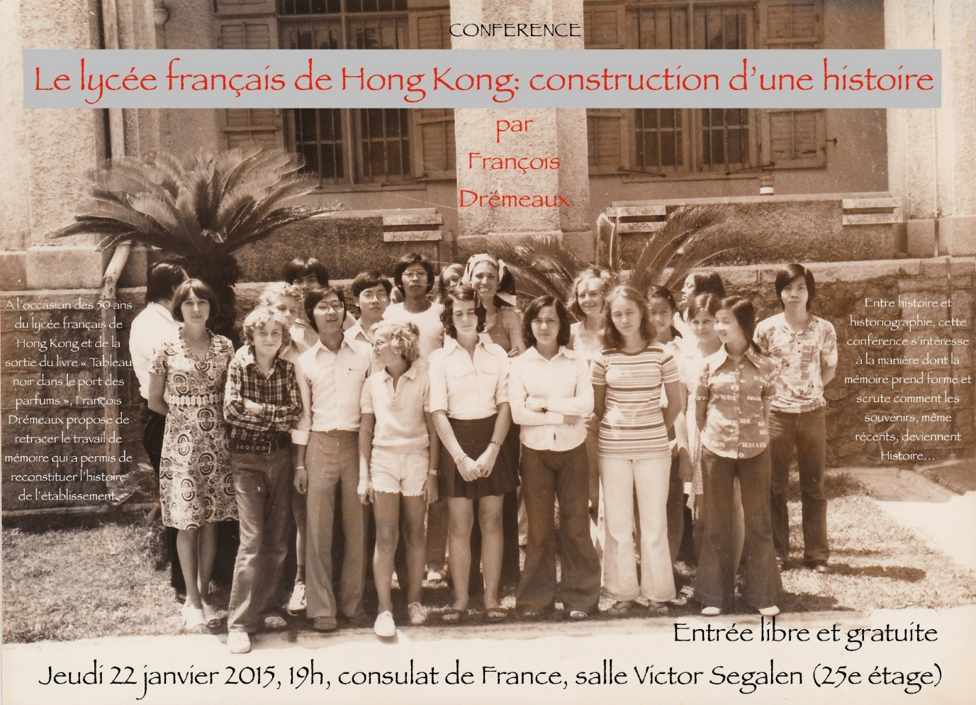 Conference Le Lycee Francais De Hong Kong Construction D