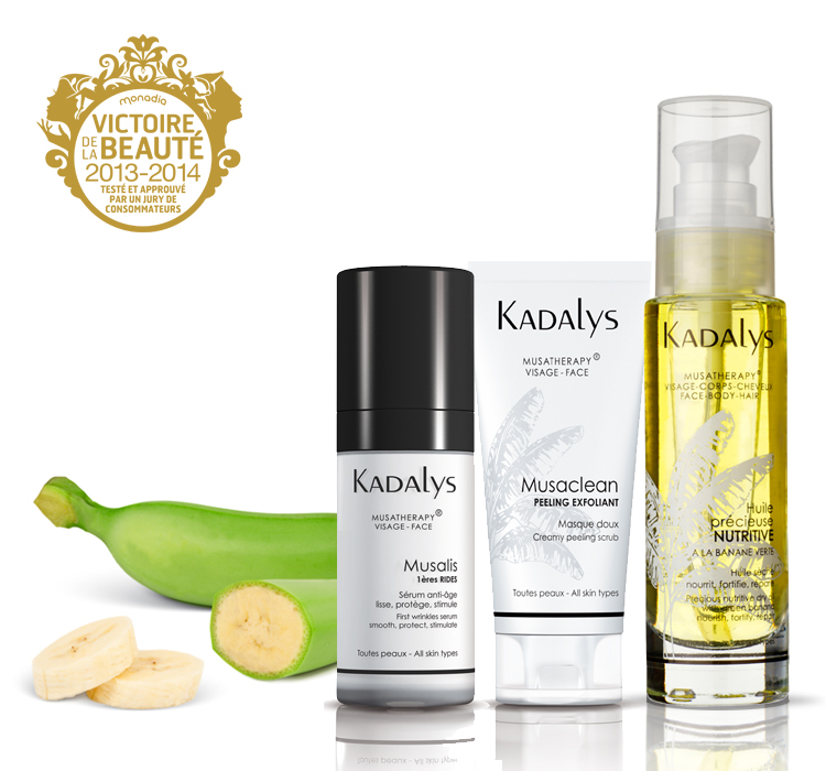 Cosmetics kadalys beauty at the heart of banana tree for La cabine skincare