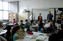Visit of the Grand Chancellor and his spouse in the bilingual classes at the The Victor Ségalen French International School