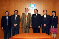 The Grand Chancellor and the staff of the joint research Institute Pasteur - Hong Kong University