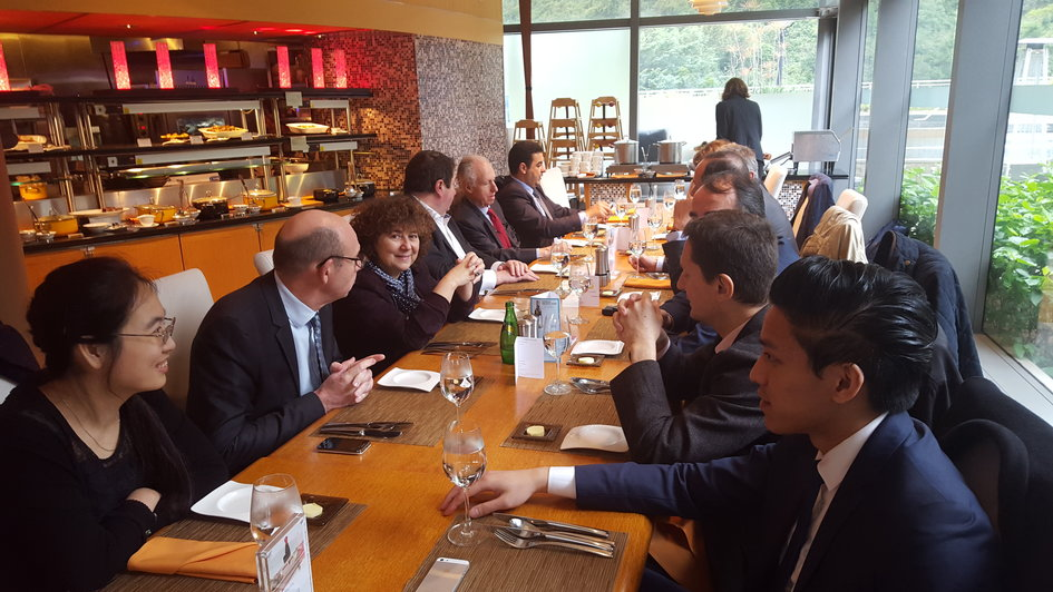 Networking lunch at Cyberport Hong Kong where house a majority of fintech companies of the city - JPEG