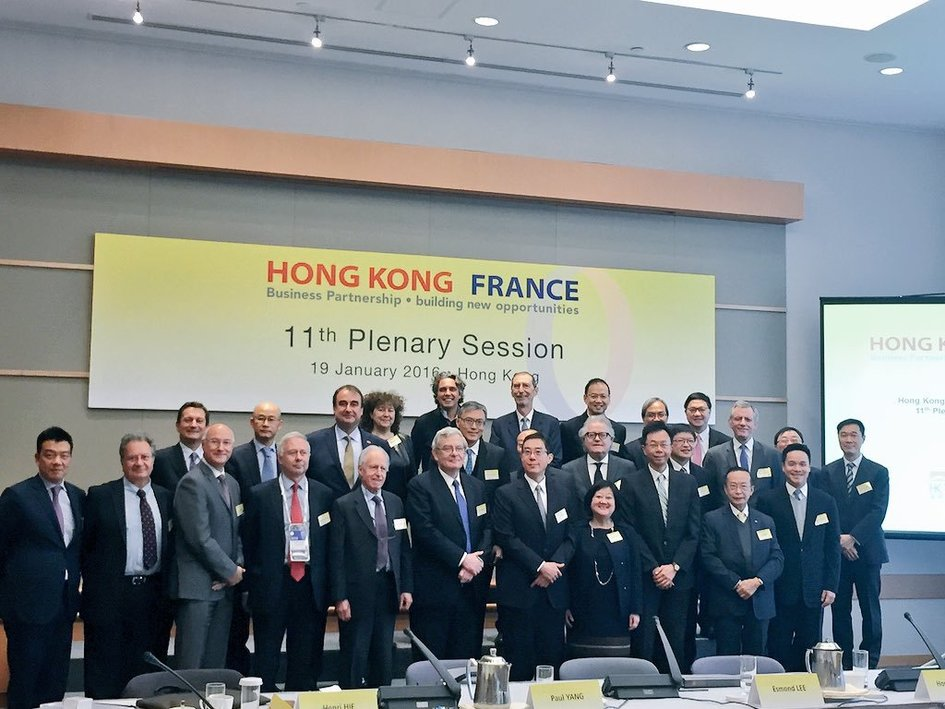 first row third from the left : Mr Eric Berti, Consul General of France in Hong Kong and Macao - JPEG